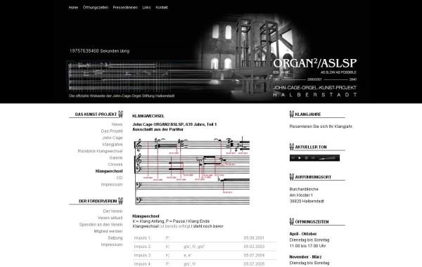 Screenshot: Organ²/ASLSP