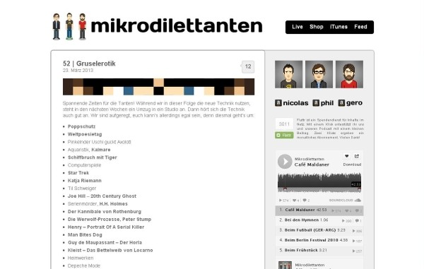 Screenshot: Mikrodilettanten