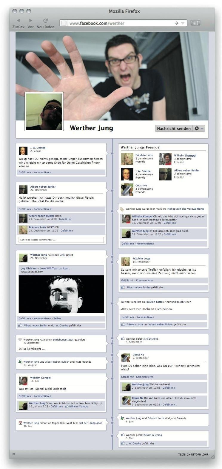 Die Facebook-Leiden des jungen W