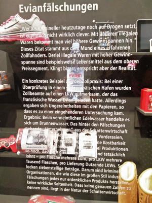 Mokka Türc & Marihuana, Ausstellung Produktfälschungen